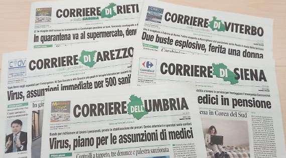 Gruppo Corriere dell'Umbria chiude le redazioni locali. La protesta di Fnsi e associazioni di stampa Umbra, Toscana e Romana